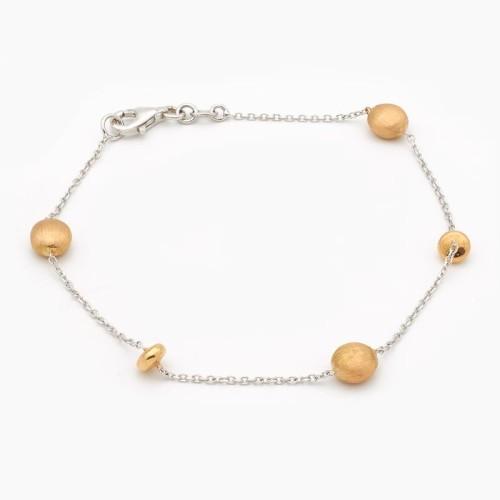 Pulsera de oro bicolor - 2802 - 1