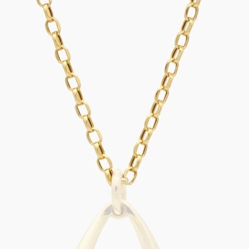 Cadena de oro con eslabones facetados - 7530 - 1