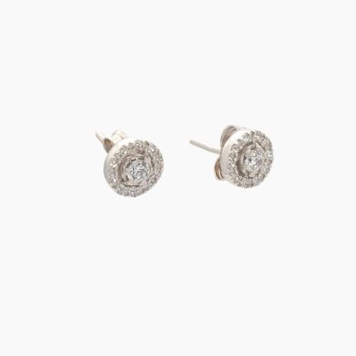Pendientes de oro blanco y circonitas - 1741 - 1
