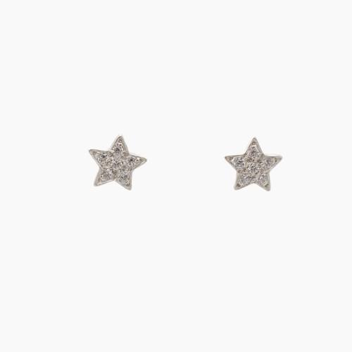 Pendientes de oro en forma de estrella con circonitas - 5342 - 1