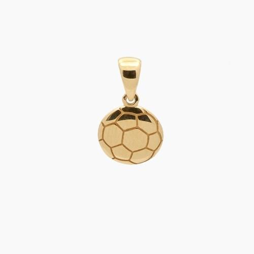 Colgante de oro en forma de balón de fútbol - 6035 - 1