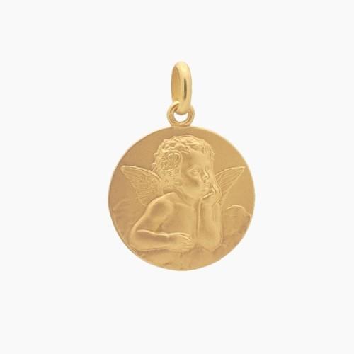 Medalla de angelote en oro - 0140 - 1