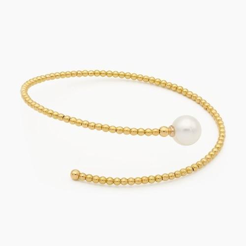 Pulsera de oro amarillo y perla cultivada - 1530 - 1