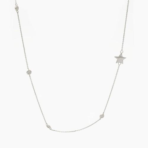 Gargantilla de oro blanco y diamantes - B040 - 1