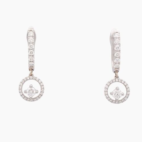 Pendientes de oro blanco y diamantes - 2830 - 1
