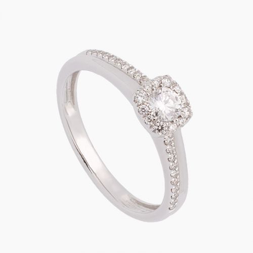 Sortija de oro blanco y diamantes - 2044 - 1