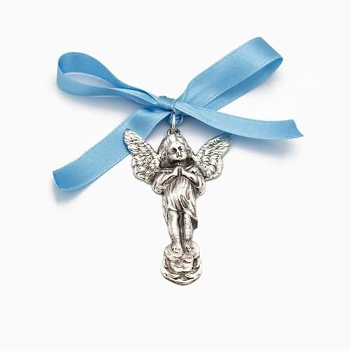 Medalla de cuna con silueta de angelito - 1