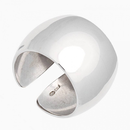 Sortija ancha de plata - 1