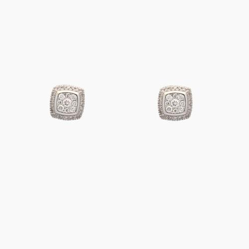 Pendientes en oro blanco y diamantes - 1
