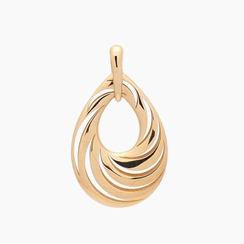 Colgante en forma de gota de oro amarillo - 1