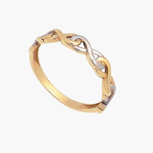 Sortija de infinitos en oro bicolor - 1