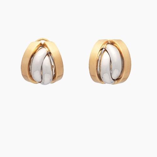 Pendientes oro bicolor - 1