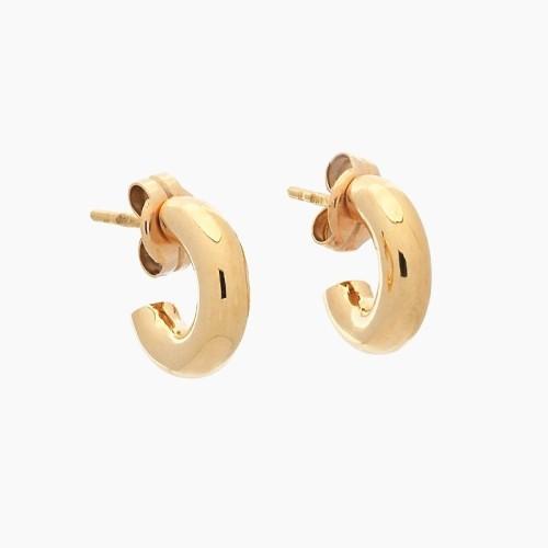 Pendientes de oro amarillo con forma de aro - 1