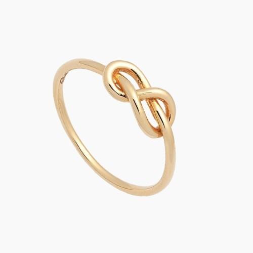 Sortija nudo de oro amarillo - 1