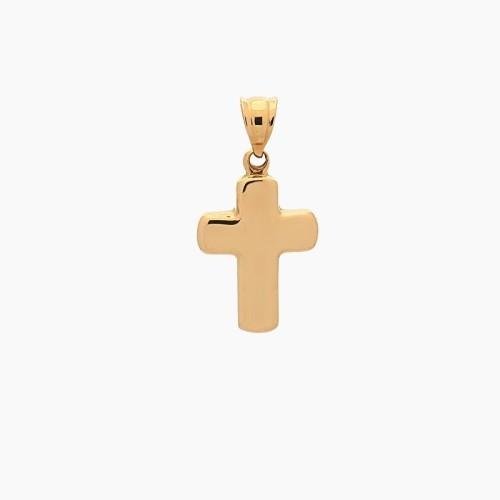 Cruz latina de oro amarillo - 2