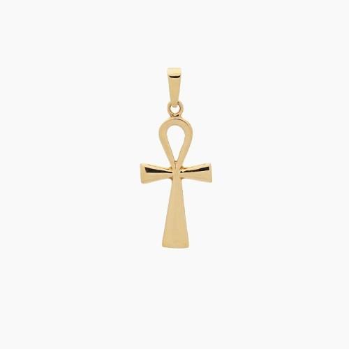 Cruz egipcia de oro amarillo - 1