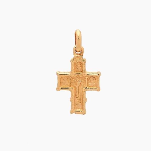 Cruz bizantina oro de primera ley - 1