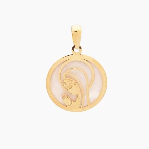 Medalla virgen niña oro de primera ley - 1