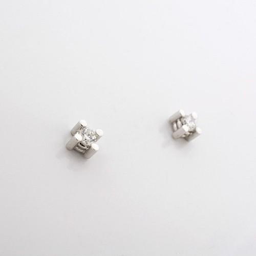 Pendientes de oro blanco y diamantes